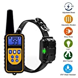 Dog Training Collar, Waterproof Rechargeable Shock Collar, Partstec 2600ft Remote 0~99 Shock Levels with Beep Vibration Electric Shock Collar for Puppy Small Medium Large Dogs.