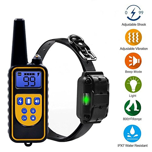 Dog Training Collar, Waterproof Rechargeable Shock Collar, Partstec 2600ft Remote 0~99 Shock Levels with Beep Vibration Electric Shock Collar for Puppy Small Medium Large Dogs. Review