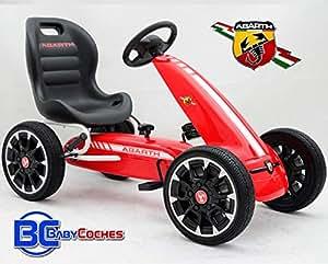 Babycoches Kart de Pedales - Coche de Pedales - Go Kart - Fiat Abarth, Ruedas