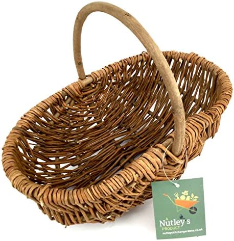 Nutley s Small Rustic Willow Vegetable Trug Basket