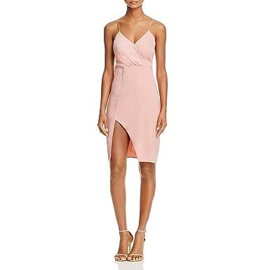 4e4bd24d3ae6 Amazon.com: StyleStalker Womens Kaylee Draped High Slit Slip Dress ...