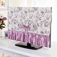 TV Cover Imitation Silk Cloth Dust Cover Rural Style Liquid Crystal TV Protective Cover , purple