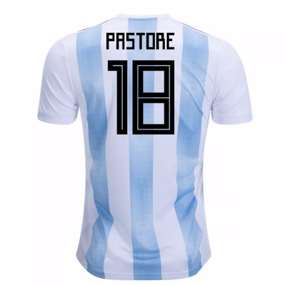 2018-19 Argentina Home Football Soccer T-Shirt Trikot (Javier Pastore 18)