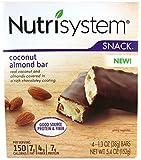 Nutrisystem Snack Coconut Almond Bar, 4 Bars 1.3 oz each
