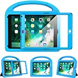 eTopxizu Kids Case for New iPad 9.7 2018 and 2017 with Built-in Screen Protector, Light Weight Shock Proof Handle Stand Kids Case for iPad 9.7 2017 and 2018,iPad Air,iPad Air 2, Blue
