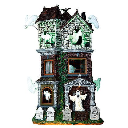 Lemax Spooky Town Collection Halloween Village Building, Ghostly Manor, With 4.5V Adapter (Manor Halloween)