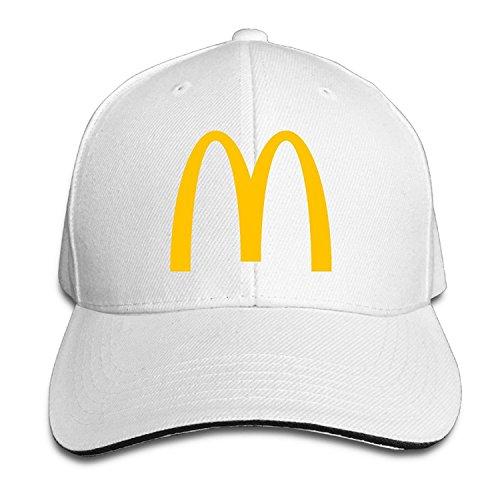 Doisybob Unisex McDonalds Logo Adjustable Snapback Baseball Cap White One  Size 92e9ce6bdb9b