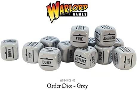 Grey Pack Of 12 Bolt Action Orders Dice: Amazon.es: Juguetes y juegos