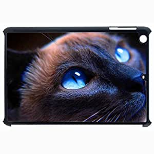 Customized Back Cover Case For iPad Air 5 Hardshell Case, Black Back Cover Design Cat Personalized Unique Case For iPad Air 5