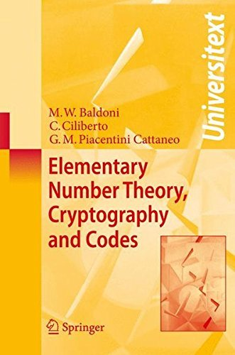 Elementary Number Theory, Cryptography and Codes (Universitext) by M. W. Baldoni (2008-10-10)