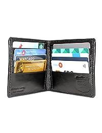 Ashlin Genuine Leather RFID Bi-fold Wallet, Black