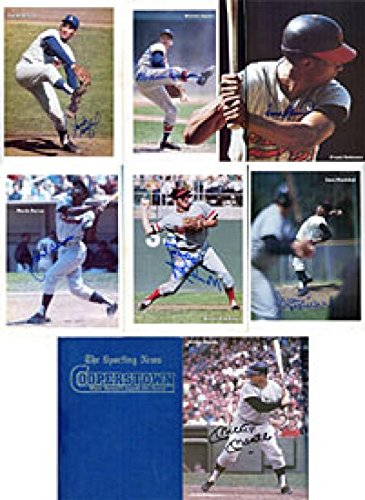 Hall of Famers Autographed / Signed The Sporting News Coperstown Book - MLB Autographed Miscellaneous Items