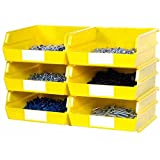 Yellow 2 Piece Wall Mount Rail System Bin Storage