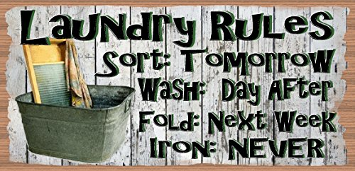 GiggleSticks Laundry Room Sign - Laundry Room Plaque - Laundry Rules