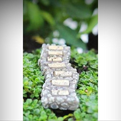 Micro Miniature Fairy Garden Dollhouse Itty Bitty Curved Walkway Path Accessory - My Mini Fairy Garden Dollhouse Accessories for Outdoor or House Decor (Curved Walkway)