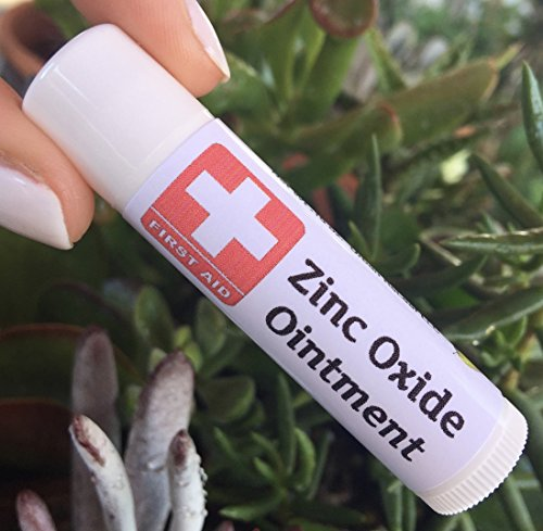 Zinc Oxide First AID Ointment ! Heals Damaged Skin & Rashes. Gentle, Soothing, 100% Natural. Shea Butter, Beeswax, Zinc Cream. Handy Pocket Stick. Safe for Kids & Delicate Areas.