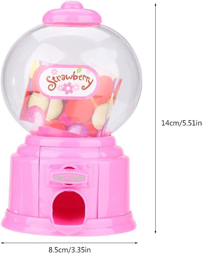Blue Oumij Mini Candy Dispenser+Savings Piggy Bank Portable Children Candy Machine Plastic Mini Gumballs Dispenser Kids Kindergarten Gift for Birthdays Christmas