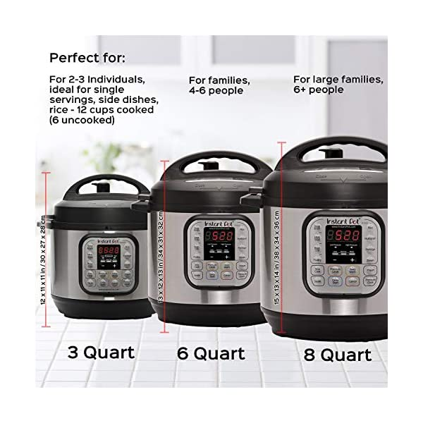 Instant Pot Duo Mini 3 Qt 7-in-1 Multi- Use Programmable Pressure Cooker, Slow Cooker, Rice Cooker, Steamer, Saute… 6