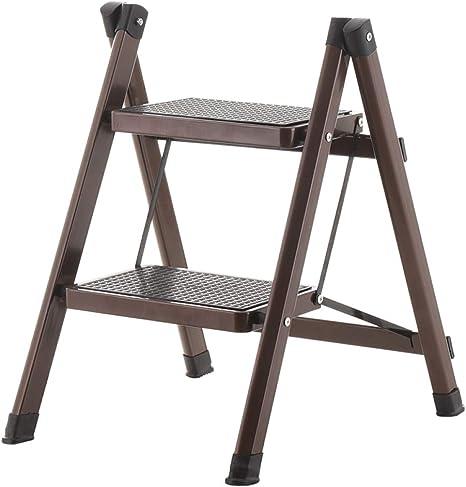 N/A Escalera, Escalera de Uso Doméstico, Escalera de Dos Pasos, Escalera de Dos Pasos, Escalera de Dos Pasos, Escalera para Niños, Estante para Escaleras,marrón,Un tamaño: Amazon.es: Deportes y aire libre