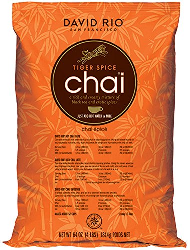 David Rio Food Service Bag Tiger Spice Chai, 1 Pack (1 x 1.8 kg)