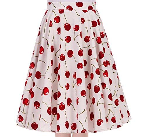 Femme Shinningstar vase White Cherry Jupe 0vZwPqRf
