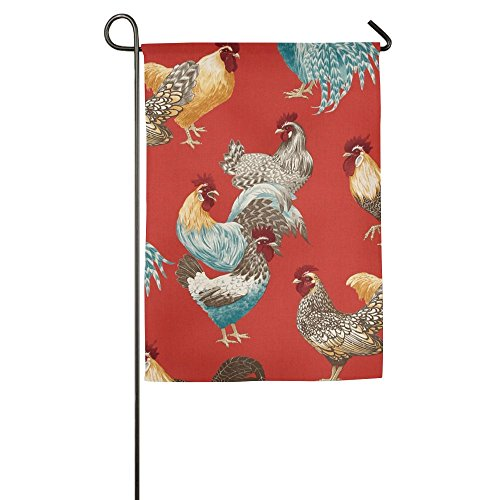 Hfdream Chicken Rooster Home Flag Graphic Garden Flag Concise Outdoor Flags Funny Yard (Rooster Mailbox Cover)
