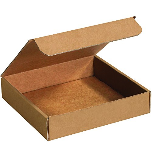 - Boxes Fast BFM993K Corrugated Cardboard Literature Mailers, 9 x 9 x 3 Inches, Tuck Top One-Piece, Die-Cut Shipping Boxes, Medium Brown Kraft Mailing Boxes (Pack of 50)