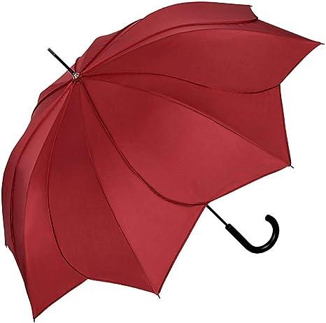 VON LILIENFELD/® Parapluie Ombrelle Mari/ée Automatique Femme Minou Bordeaux Couture Bordeaux