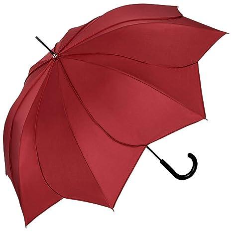 5563784a2936 VON LILIENFELD® Ombrello Donna Classico Lungo Matrimonio Parasole Minou  borgogna cuciture borgogna