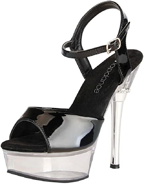 d6b27a717fe82 Amazon.com  6 Inches Black And Clear Sandal Strap Size 6  Health ...