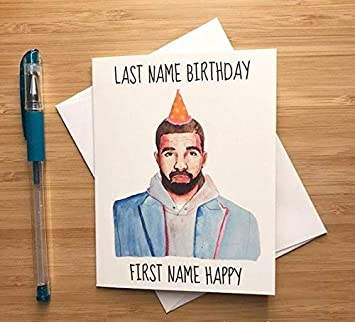 Drake Birthday Card Amazoncouk Office Products