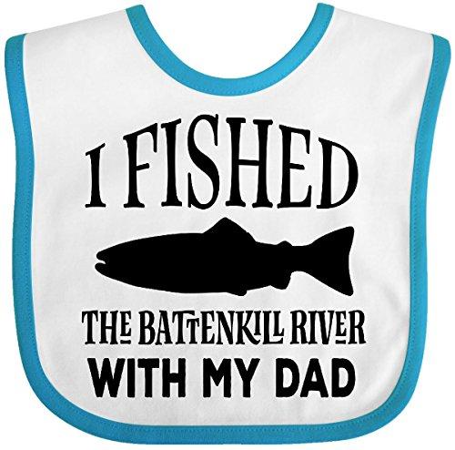 Inktastic - Fishing Battenkill River Vermont Baby Bib White/Turquoise (Vermont Baby Bib)