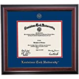 Campus Linens Louisiana Tech Bulldogs Diploma Frame Blue Red Matting Embossed Seal