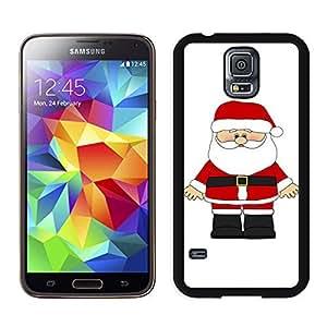 S5 Case,Cute White Mustache Christmas Santa Claus TPU Black Case For Galaxy S5,Samsung Galaxy S5 I9600 Protective