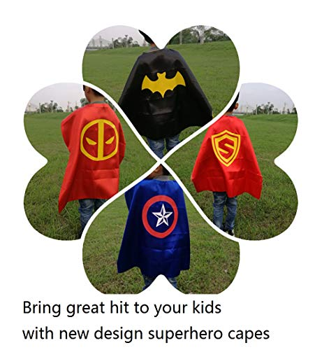 Ranavy Hero Capes And Masks Bulk Set Dress Up for Kids