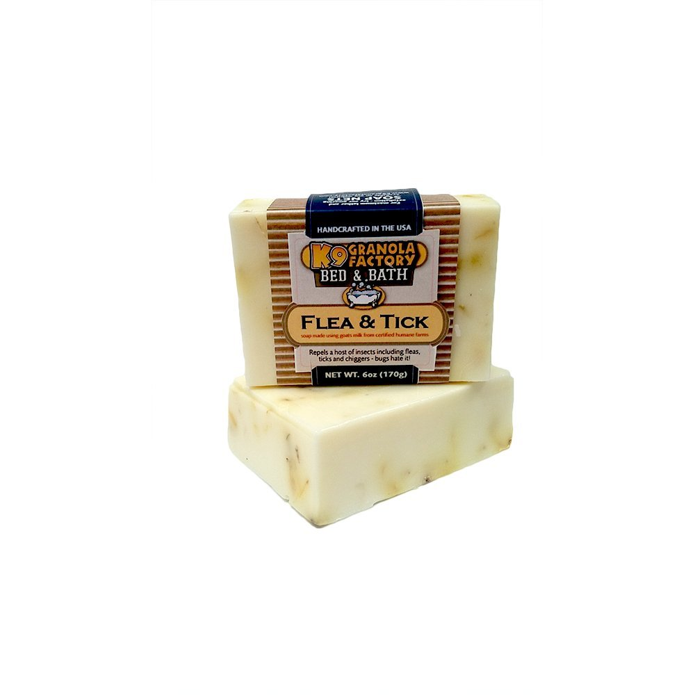 Flea & Tick Goats Milk Soap for Dogs 6oz Bar