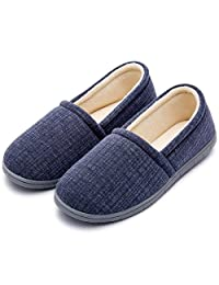 Cozy Niche Women's Knitted Vertical Stripe Shoes, Spring Summer Memory Foam House Slippers