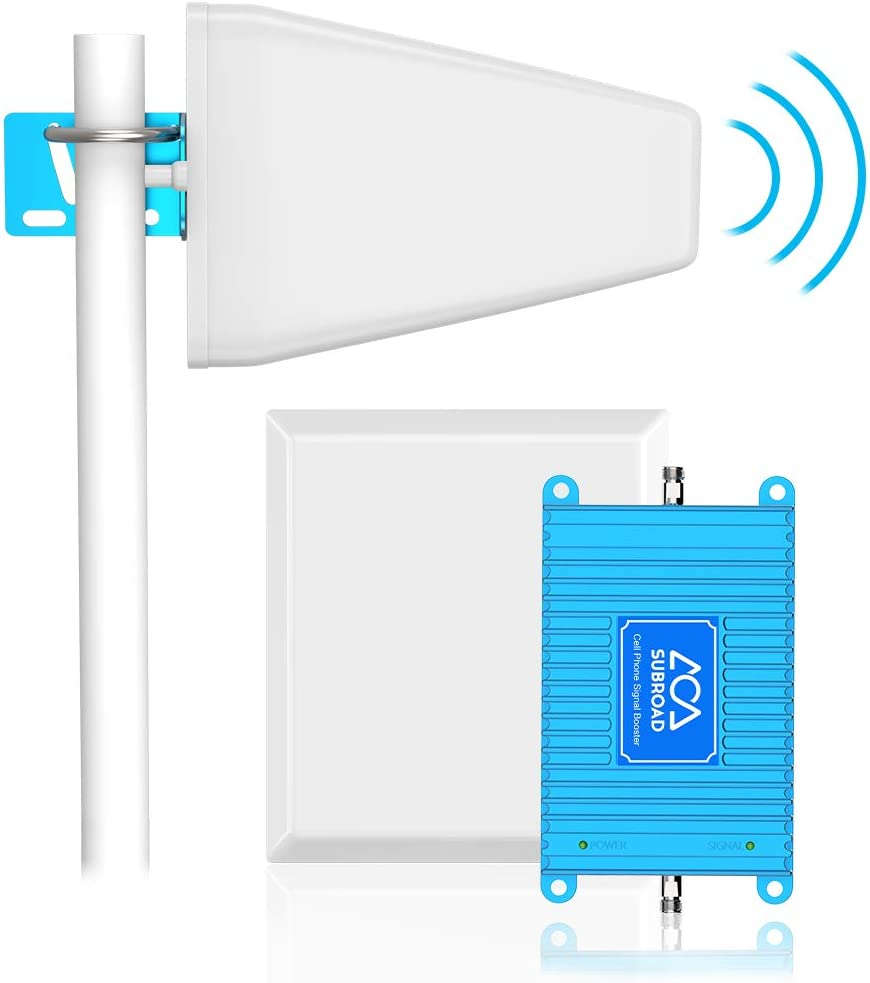 Verizon Signal Booster 4G LTE Cell Phone Signal Booster Subroad 700Mhz Band 13 Mobile Cellular Repeater Amplifier Kit for Home, Office Signal Extend Coverage Up to 5,000 Sq Ft