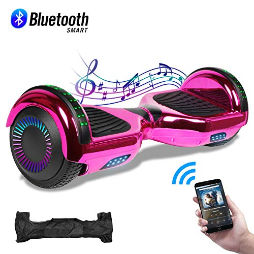 CBD 6.5' Hoverboard with Bluetooth Speaker, Self Balancing Hoverboard for Kids with LED Lights, UL...