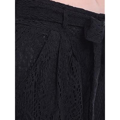 Anna-Kaci Women High Waist Loose Wide Leg Pants Boho Crochet Lace Palazzo Long Trouser at Women's Clothing store