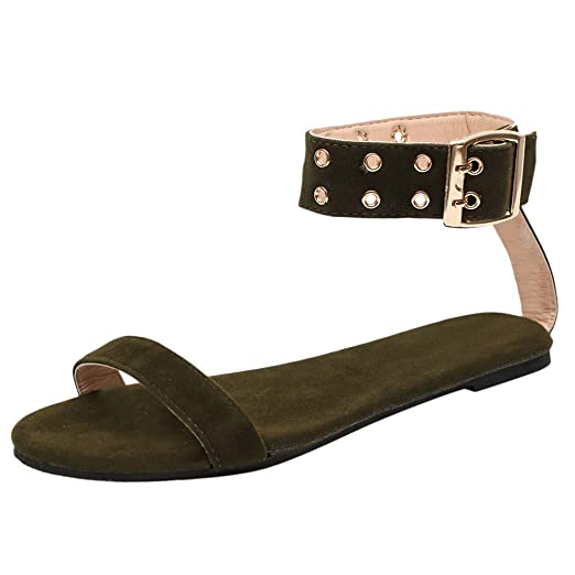 f05c10c3bcdf9 Amazon.com: MmNote Shoes, Women's Ladies Fashion Flat Buckle Casual ...