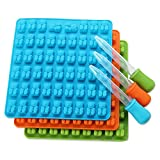 Clearance ! Sandistore 53 Cavity Silicone Gummy Bear Chocolate Mold Candy Maker Ice Tray Jelly Moulds (Random)