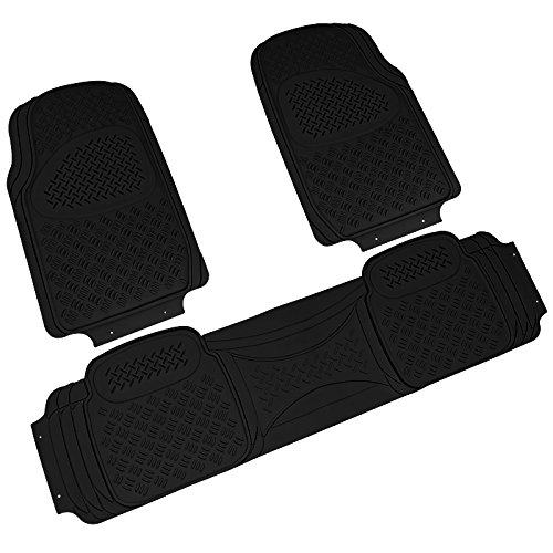 SPEC-D TUNING MAT-3001BLK Black Spec-D PVC 3D Print Floor Mat 3 Pieces (Fender Flares For 2005 Jeep Grand Cherokee)