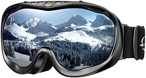 ENKEEO Ski Goggles OTG Snowboard Goggles – Dual Lens, Anti-Fog, 100 UV400 Protection Helmet Compatible Snowmobile Goggles for Men, Women, Youth Kids Skiing Snowboarding Skating Winter Sports
