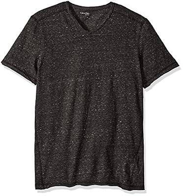 Calvin Klein Jeans Men's Modern Slub Short Sleeve V-Neck T-Shirt