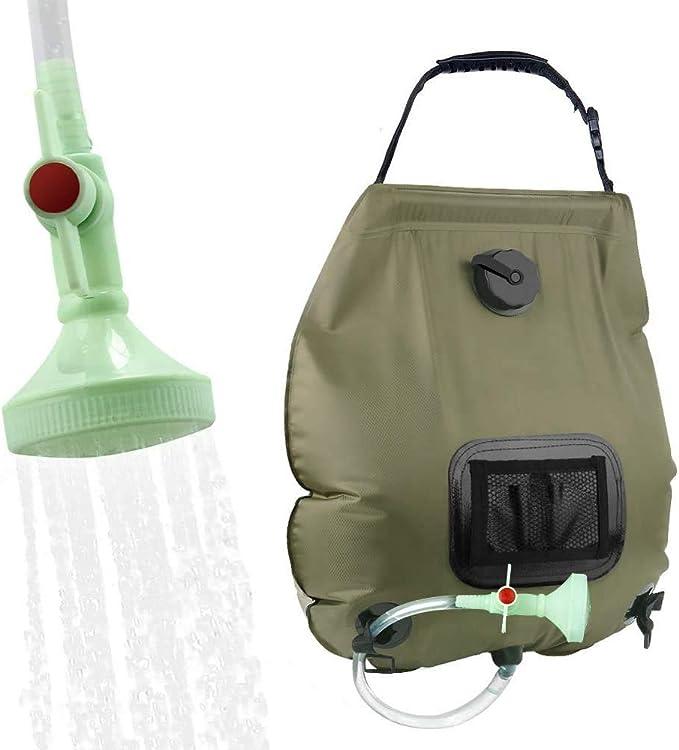 Outdoor Dusche mit Duschkopf Griffstange und Seil zum Aufh/ängen 20L//5 Gallon Campingdusche FANDE Solar Dusche Tasche Solar Heizung Camping Dusche Tasche Schlauch