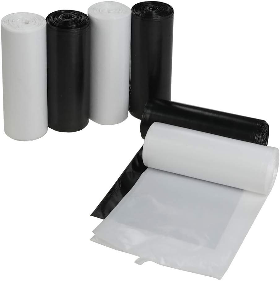 Vareone 30 L Sacos Basura Bolsas de Basura, Color Blanco y Negro, 150 Unidades