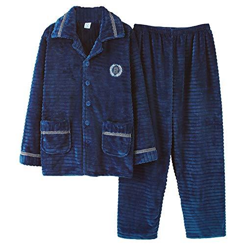Hombre Invierno Pijamas Talla Juventud A Mmllse Terciopelo De Photo Cálida Color Grande Rayas E Engrosamiento Otoño 8EwFqSH
