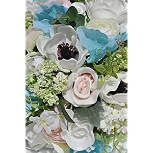 Real Touch Rose Anemone & Ranunculus Bridesmaids Wedding Bouquet 2