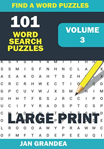 101 Large Print Word Search Puzzles, Volume 3: Easy
